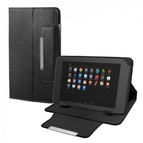 eFabrik Schutz Tasche für TrekStor Volks-Tablet 3G (25,7 cm) 10 Zoll Hülle Case Cover Schutzhülle Leder-Optik schwarz