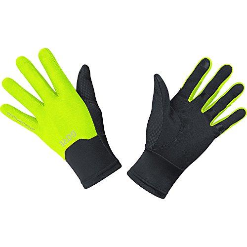 GORE Wear Winddichte Handschuhe, M GORE WINDSTOPPER Gloves, Größe: 9, Farbe: Schwarz/Neon-Gelb, 100115
