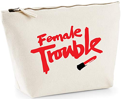 Hippowarehouse Female Trouble Bolsa de Lavado cosmética Maquillaje Impreso 18x19x9cm