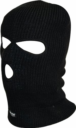 Highlander 3 Hole Thinsulate Balaclava - Black