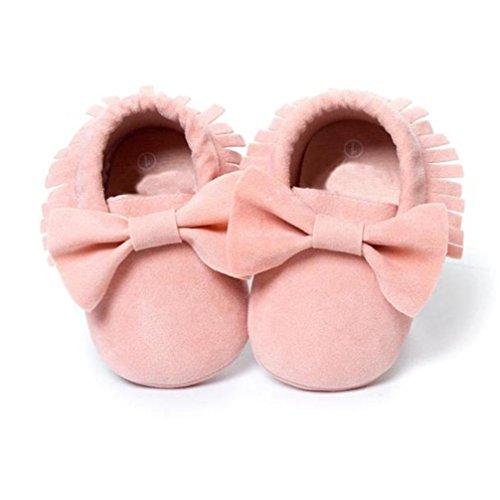 Chaussures Bébé,Fulltime® Lit bébé Glands bowknot Chaussures enfant Sneakers Chaussures Casual Prewalker