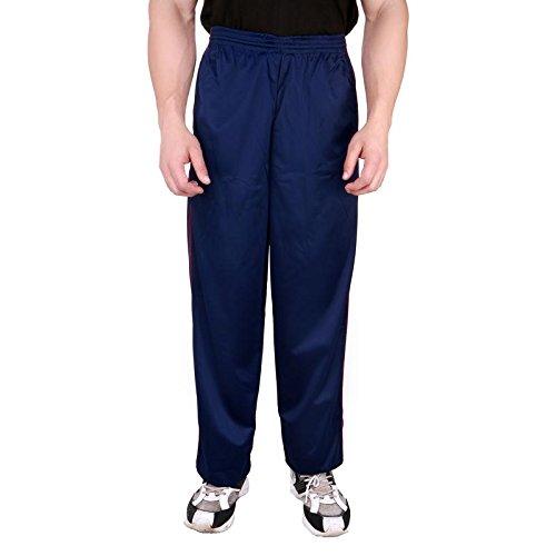 Nuan Men Blue Cotton Track Pant