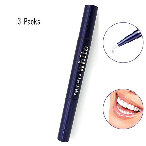 ZUEN 3 Stück Zahnaufhellungsstift, Zahnaufhellungsstift Extra-Stärke-Whitening-Gel-Peroxid-Behandlung Schnell wirkender Gelstift für EIN strahlendes Lächeln -