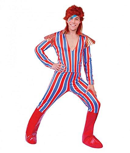 shoperama Ziggy Stardust Alter Ego David Bowie Herren Kostüm Gr. M/L Glam Rock Star Celebrity Popstar