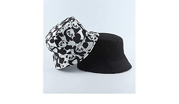 TXGLGWA Fashion Reversible Black White Cow Print Bucket Hat Summer Sun Caps For Women Men Fisherman Hat