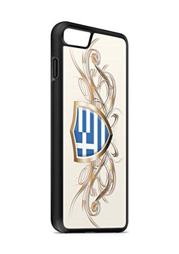Kompatibel mit iPhone 5 5s Silikon Handyhülle Flexibles Slim Case Cover Griechenland Fahne Flagge Schwarz