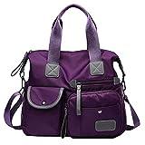 NAttnJf Casual Women Waterproof Large Capacity Crossbody Shoulder Bag Mummy Handbag Purple