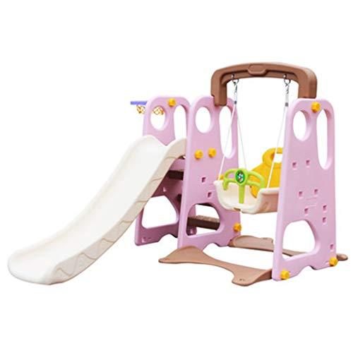 Indoor Klettergerüste Innenrutsche Rutschschaukel Für Kinder - Multifunktionsspielzeug Kletterspielzeug Für Kinder Einrichtungen Für Vergnügungsparks (Color : Pink, Size : 143 * 40 * 103cm)