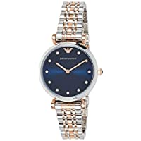 Emporio Armani Women's Quartz Watch, Analog Display and Stainless Steel Strap AR11092