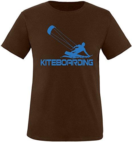 EZYshirt® Kiteboarding Herren Rundhals T-Shirt Braun/Blau