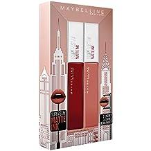 Maybelline New York Coffret Cadeau Superstay Matte Ink 50 Voyager/70 Amazonien