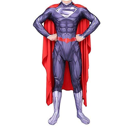 TOYSGAMES Superheld Cosplay Kostüm Erwachsene Einteilige Strumpfhosen Halloween Bühnenshow Kostüm Requisiten (Farbe : Lila, größe : ()