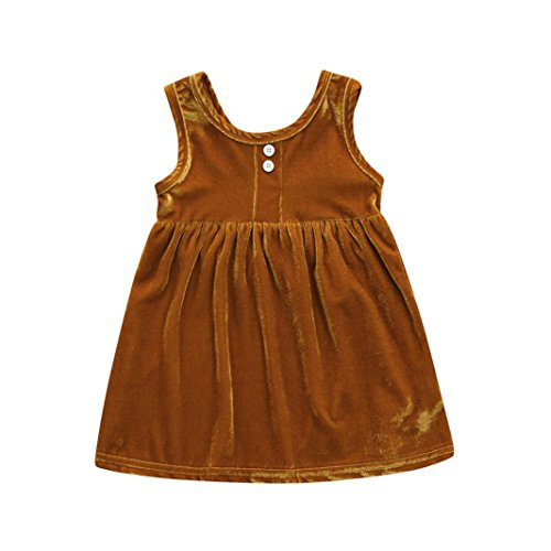 MML Toddler Baby Girl Dress Sping Summer Solid Sleeveless Dress Summer Beach Skirt Outfit Clothes