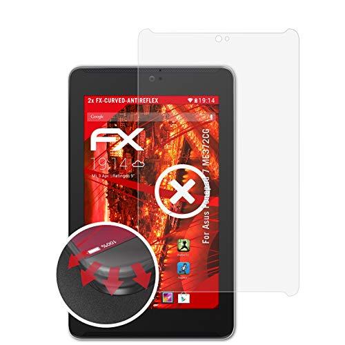 atFolix Schutzfolie passend für Asus Fonepad 7 ME372CG Folie, entspiegelnde & Flexible FX Bildschirmschutzfolie (2X)