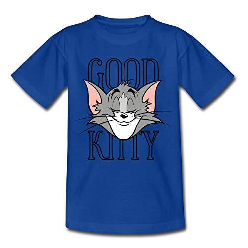 Spreadshirt Tom Und Jerry Tom Good Kitty Kinder T-Shirt, 122/128 (7-8 Jahre), Royalblau