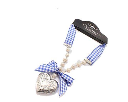 intage Tracht Charivari Dirndl Wiesn Oktoberfest blau SR21 (Vintage Trachten Schmuck Halskette)