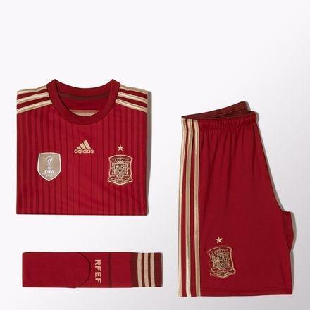 adidas Spanien Trikot Set Home 2014Children Size, rot - Größe: 2-3 Years
