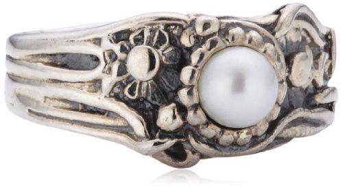 Trollbeads Damen-Ring Jugendstil Perle 925 Sterling Silber Gr. 56 (17.8) TAGRI-00166