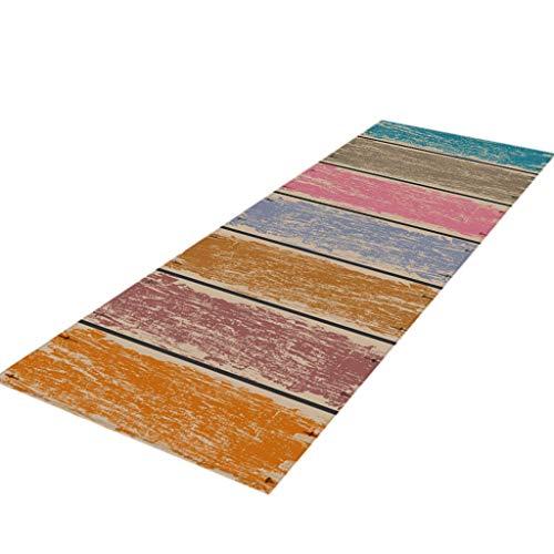 Küchenteppich Serria® 40 x 120 cm, Polypropylen, Küchen-Komfortmatte, Superweicher Teppich, Foto-Läufer-Teppiche, rutschfeste Unterlage, waschbarer Badteppich 40x120cm Mehrfarbig - Wieder Gummi Läufer Teppich