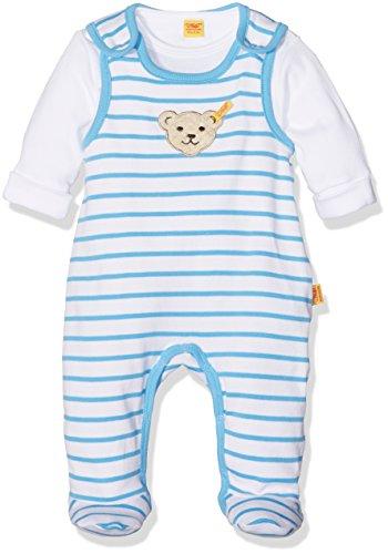 Steiff Baby-Jungen 2tlg. Set Strampler O. Arm + T-Shir, Blau (Milky Blue 3182), 68