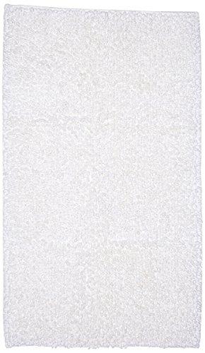 Coincasa 6677030 tappeto bagno thermae, 100% cotone, bianco, 60 x 100 x 0.5 cm