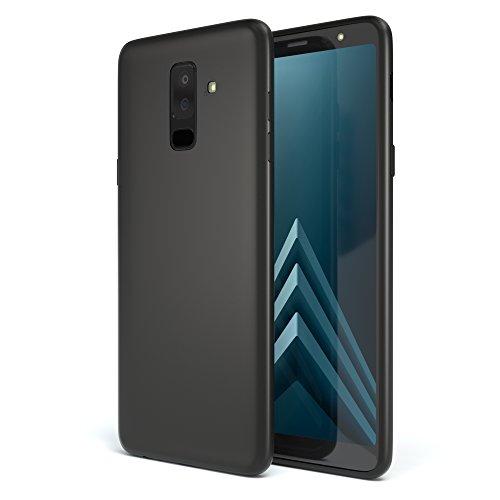 EAZY CASE Handyhülle Silikon mit Kameraschutz kompatibel mit Samsung Galaxy A6 Plus (2018) in schwarz matt, Ultra dünn, Slimcover, Silikonhülle, Hülle, Softcase, Backcover