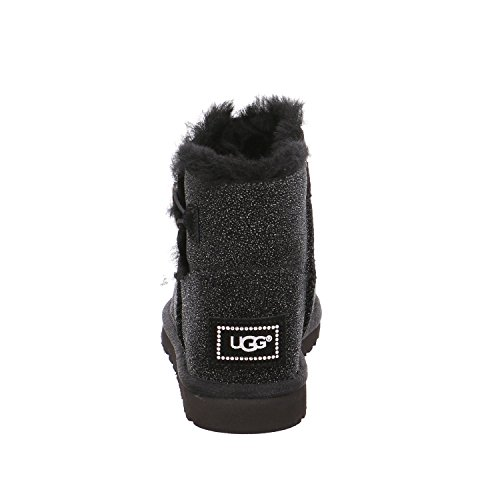 UGG Bottes en mouton Mini Bailey Button Bling Serein Black Noir