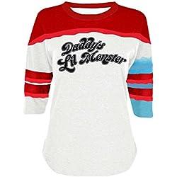 Camiseta de Harley Quinn del Escuadrón suicida de The Cosplay Company Blanco blanco X-Large
