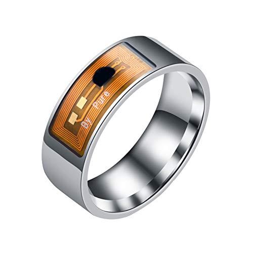 Huhuswwbin Fitness Tracker, Willful Orologio Fitness 1Pc Scheda di Accesso in Acciaio Inossidabile Chip Magic Ultimate Control NFC Smart Ring Band - Argento # 06