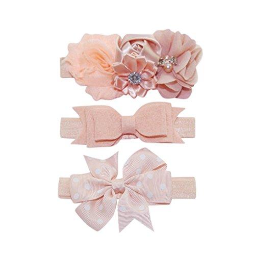 Evansamp 3Haarband für Kinder Mädchen Baby Elastisch Floral Kopfband Haar Polka Dot Schleife Haarband Fotografie-Set Deko, I, 0 to 2 years Old