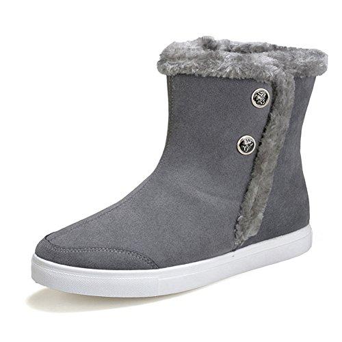 Western épais bottes de neige pour les fiancé et les amoureux chaussure de coton adulte mixte velours classique simple boots hiver Gris