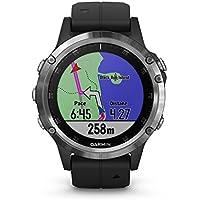 fenix 5 Plus Silver con cinturino nero - GPS Smartwatch Multisport con Mappe, Musica e Pagamento contactless