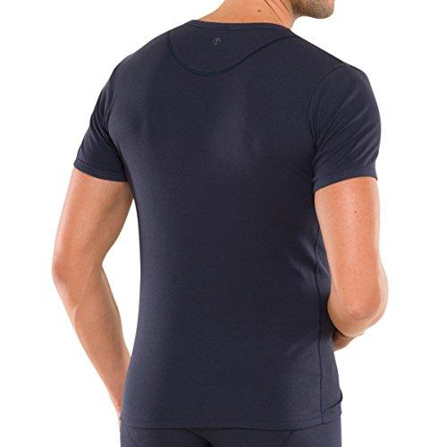 Schiesser - Herren Shirt 1/2 Arm mit Knopfleiste in versch. Farben (123627) 2016/2017 blau (800)