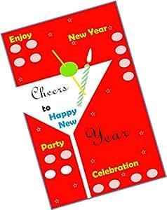 Party Stuff New Year Theme Tambola Housie Tickets - New Year kukuba 7 - Designer Kukuba (16 Cards) | Kitty Games