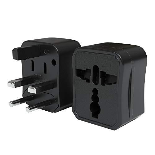 EAZY CASE Universal Reiseadapter 150 Länder weltweit - Stromadapter, Reisestecker für Weltreisen, u.A. für USA, Australien, Asien, Kanada, UK, Afrika, Thailand, Neuseeland, China, Südamerika, Schwarz