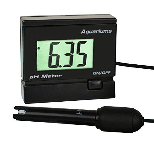 Digital pH-Messgerät Wasserqualität-Prüfvorrichtung-Monitor mit BNC austauschbarer Elektrode Sonde wasserdichte Halterung verstellbar für Aquarium Tank