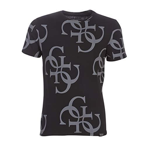 Guess Uomo T-Shirt Nero Mod. M93I17 M