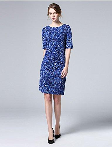 Sarah Dean Newyork - Robe - Robe - Femme bleu imprimé bleu imprimé bleu