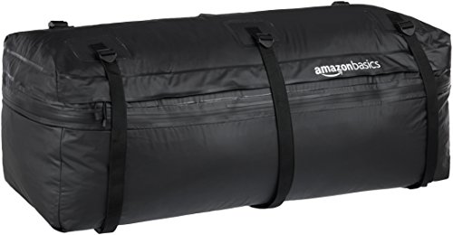 AmazonBasics Auto-Anhängebock Frachttasche, Schwarz, 250 Liter, erweiterbar auf 325 Liter