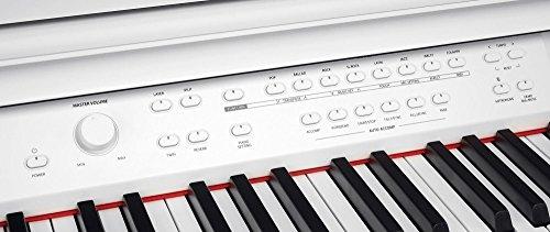 Steinmayer DP-380 WM Digitalpiano (88 Tasten, Holztasten, Hammermechanik, Triple-Sensor-System, LCD, Begleitautomatik, 2 Kopfhöreranschlüsse, 1 Mikrofonanschluss mit eigenen EQ-Einstellungen und Effekten, MP3 Player) weiß matt - 5