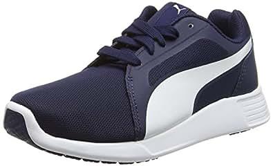 Puma Men's STTrainerEvo Peacoat and White Sneakers - 10 UK/India (44.5 EU)