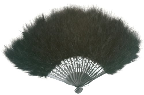 Zucker Feather Products Black Marabou Feather Fan Standard