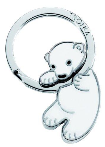 troika-porte-cles-animaux-ours-polar-baby-email-metallique-et-chrome-brillant-vert
