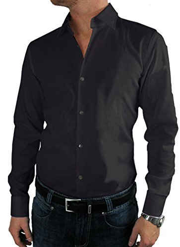 HUGO BOSS Business-Hemd | Enzo ( Regular Fit ) schwarz (40 | M)