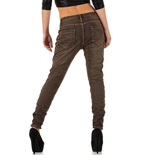 iTaL-dESiGn - Jeans - Boyfriend - Femme Marron