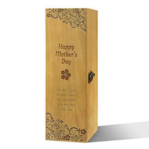 Twisted Envy Mutter 's Day Gedicht Honig Luxus lackierte Holz Wein Box