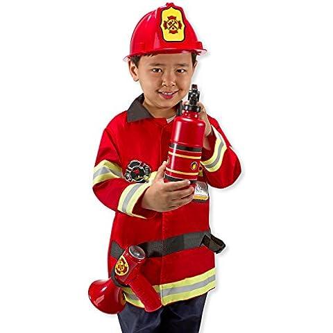 Melissa & Doug - Disfraz de jefe de bomberos (14834)