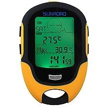Docooler Altímetro Barómetro Brújula Termómetro Higrómetro Pronostico de Tiempo LCD Digital Linterna LED Eléctrica Multifunción
