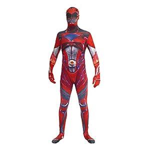 Morphsuits Disfraz de mlprmdr2186-206cm oficial disfraz de Power Ranger Rojo Deluxe película a (2x -Large)