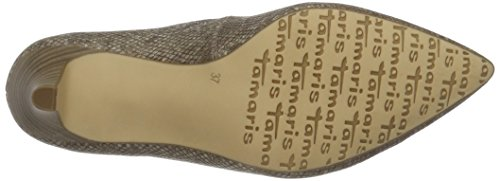 Tamaris 22445, Scarpe con Tacco Donna Marrone (WOOD STRUCTURE 323)